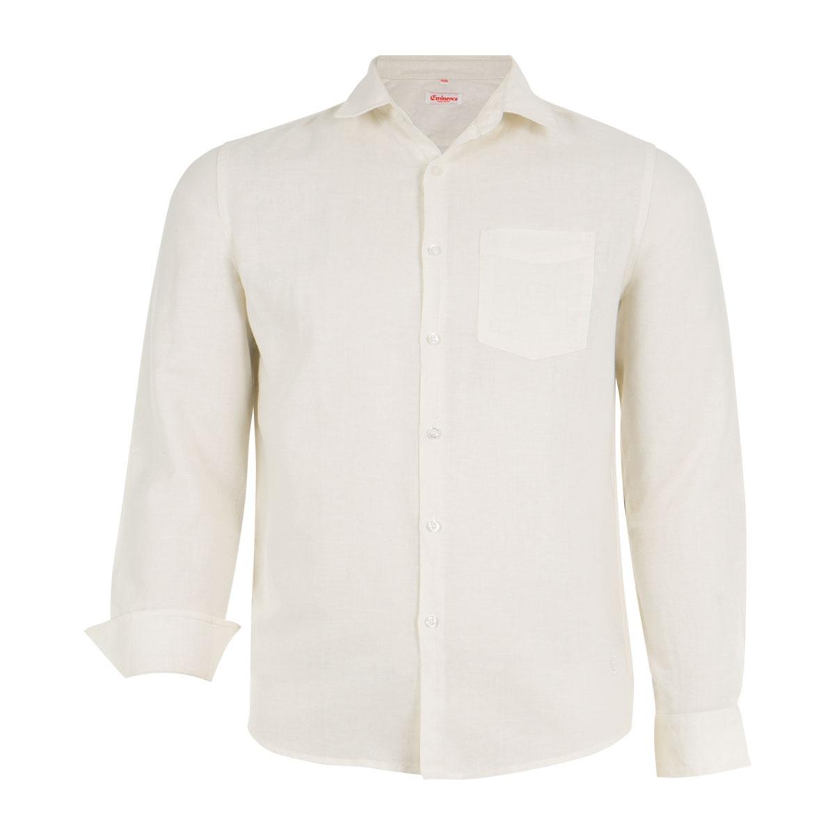 Chemise homme à manches longues avec poche Eminence